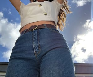 denim, sky, and jeans image