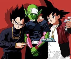 dragon ball z, goku, and vegeta image