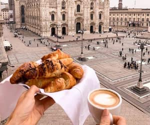 coffee, croissant, and italy image