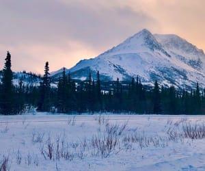 alaska, sunset, and america image