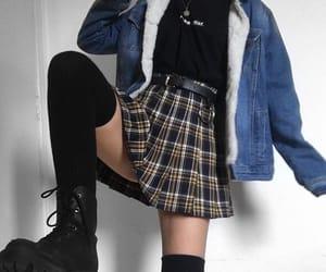 boots, denim jacket, and fashion image
