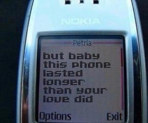 love, grunge, and phone image