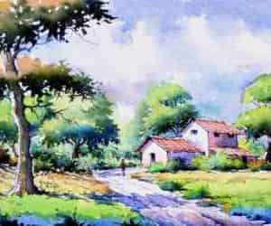 art for sale, landscape paintings, and indian art image