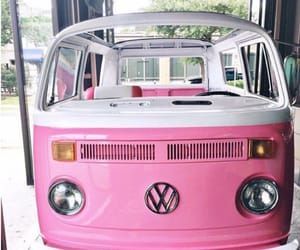 cars, pink, and volkswagen image