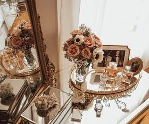 flowers, home, and mirror image