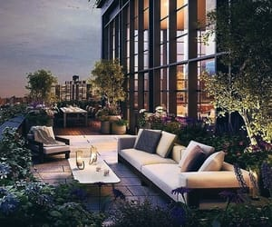 balcony, beautiful, and city lights image