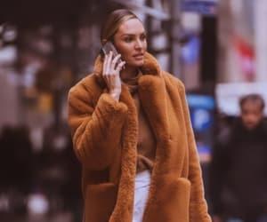 coat, fashion, and fashion model image