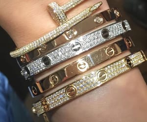 cartier, bracelets, and gold image