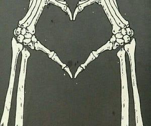 love, heart, and bones image
