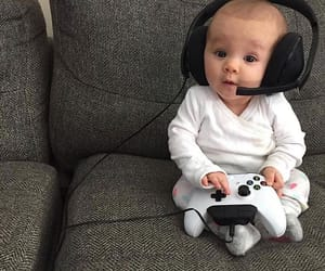 baby, cute, and game image