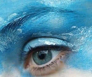 art, blue eye, and blue image