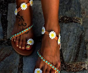 fashion, flat, and beach sandals image