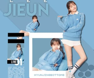 aesthetic, blue, and lee jieun image