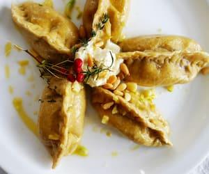 dumpling, meal, and eat image