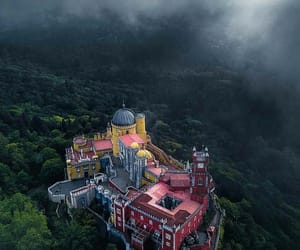 castle, clouds, and portugal image
