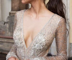 dress, sheer, and sparkles image