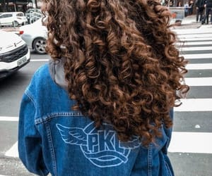 hair, girl, and curly hair image