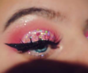 eyelashes, girly, and glitter image