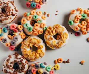 food, donuts, and cereal image