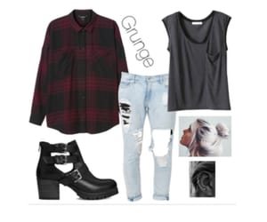 clothes, grunge, and mujer image