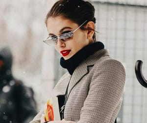 fashion, model, and red lips image