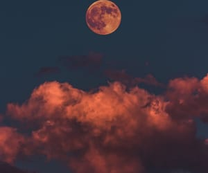 moon, scarlet, and bloody moon image