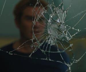 broken glass, broken mirror, and cracked image