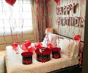 balloons, gifts, and lovely image