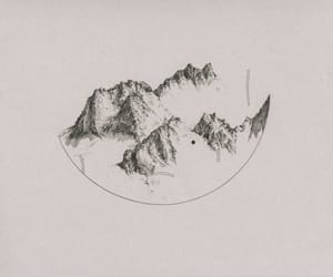 art, mountains, and draw image