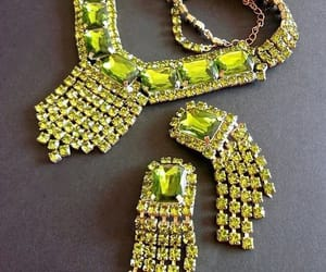 etsy, green necklace, and bib necklace image