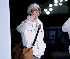 airport, brown hair, and glasses image