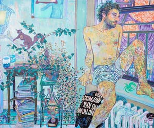 art, mixed media, and paintings image
