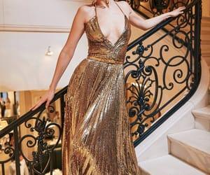 bella hadid, fashion, and gold image