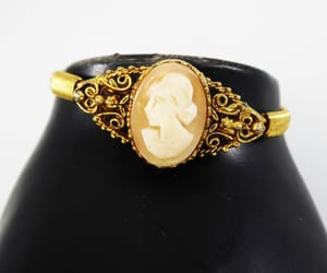 etsy, goldtone, and victorian revival image