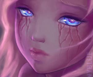 destiny blue, cry, and girl image