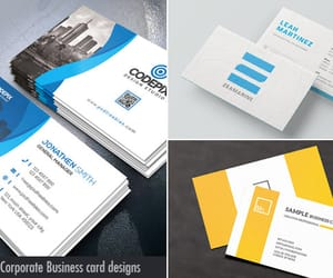business cards, design, and graphic design image
