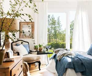bedroom, house, and plants image
