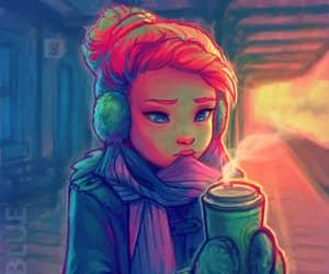 coffe, girl, and destiny blue image