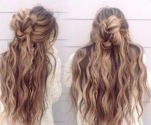 braid, wave hair, and braide image