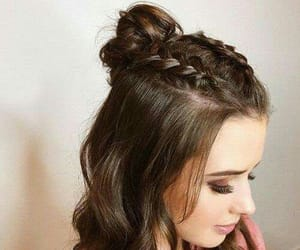 hair, style, and penteado image