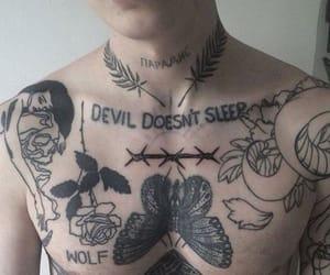 tattoo, boy, and Devil image