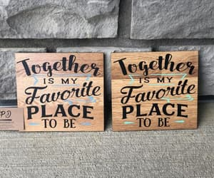 home decor, anniversary gift, and love wood sign image