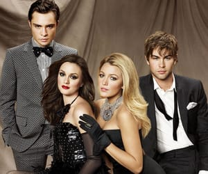 blair, chuck, and gossip girl image