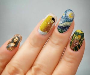 arte, girl, and manicure image