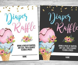 etsy, ice cream baby, and diaper raffle ticket image