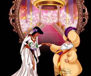aladdin, art, and bride image