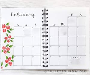 calendar, bujo, and bujojunkies image