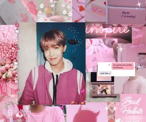 pink, wallpaper, and bts image