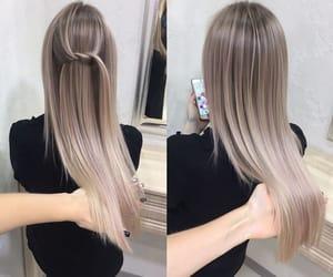 hair, ash, and girl image