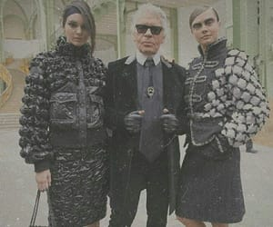 chanel, karl lagerfeld, and kendall jenner image